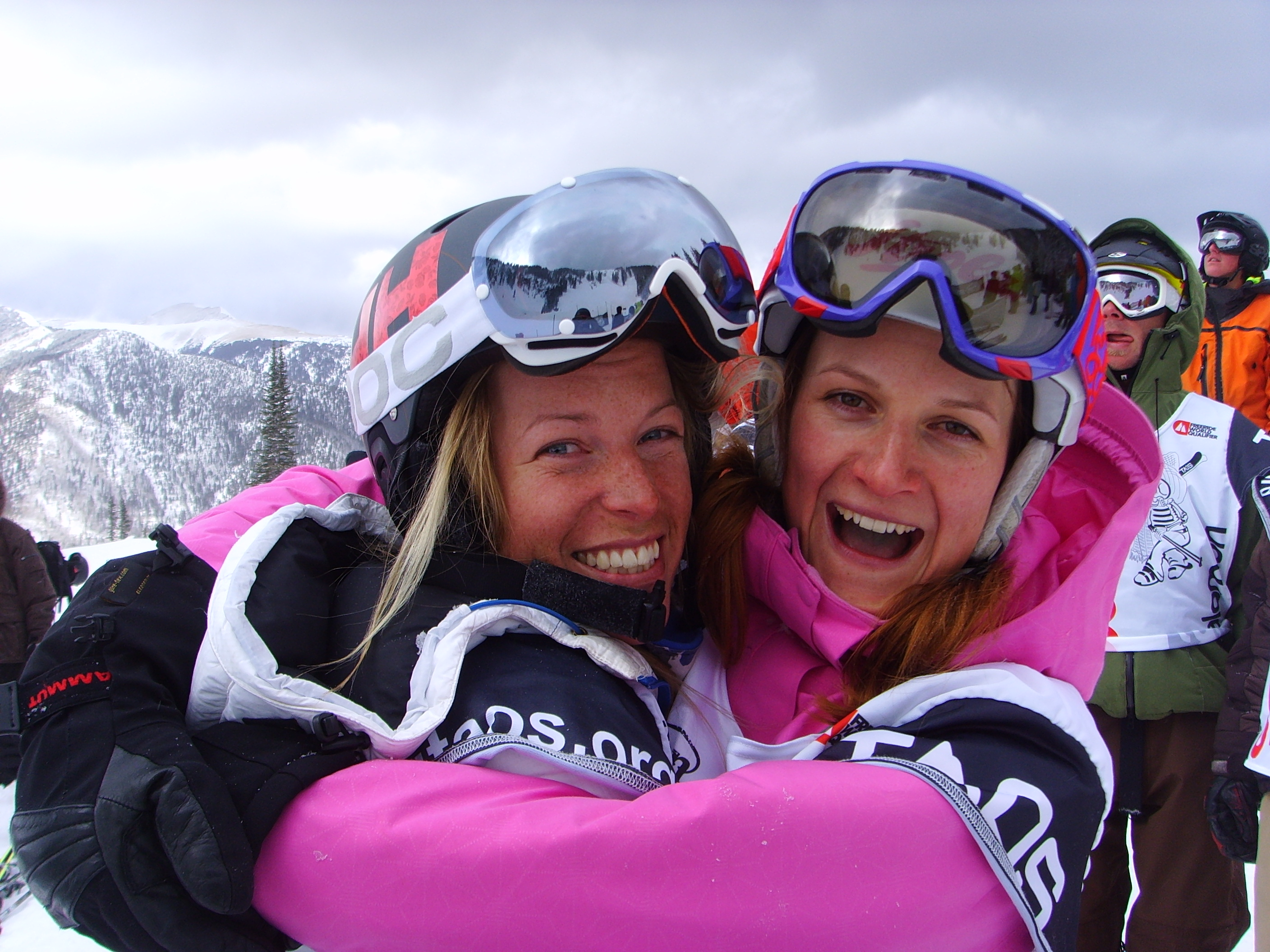 Kästle team mate Karine Falck-Pederson and I having a ball