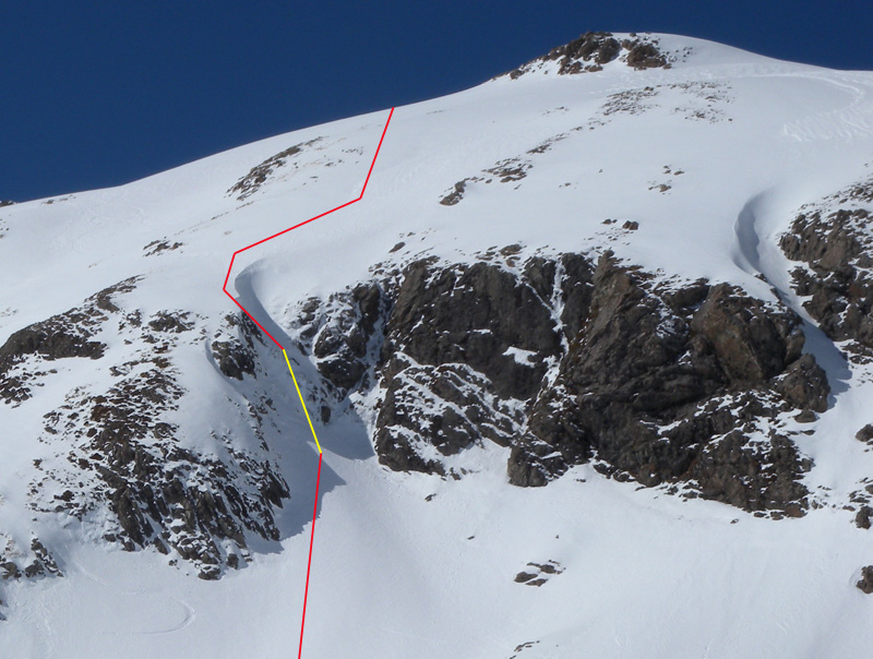 My line on comp day 2. The yellow line depicts air time.