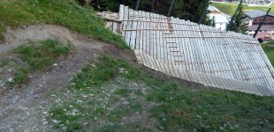 New downhill trail in Lech am Arlberg