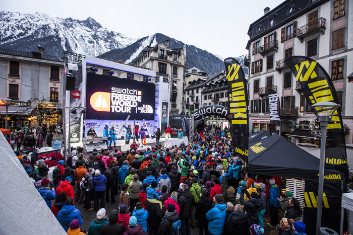 Pic: Freeride World Tour 2014 Chamonix, by J. Bernard