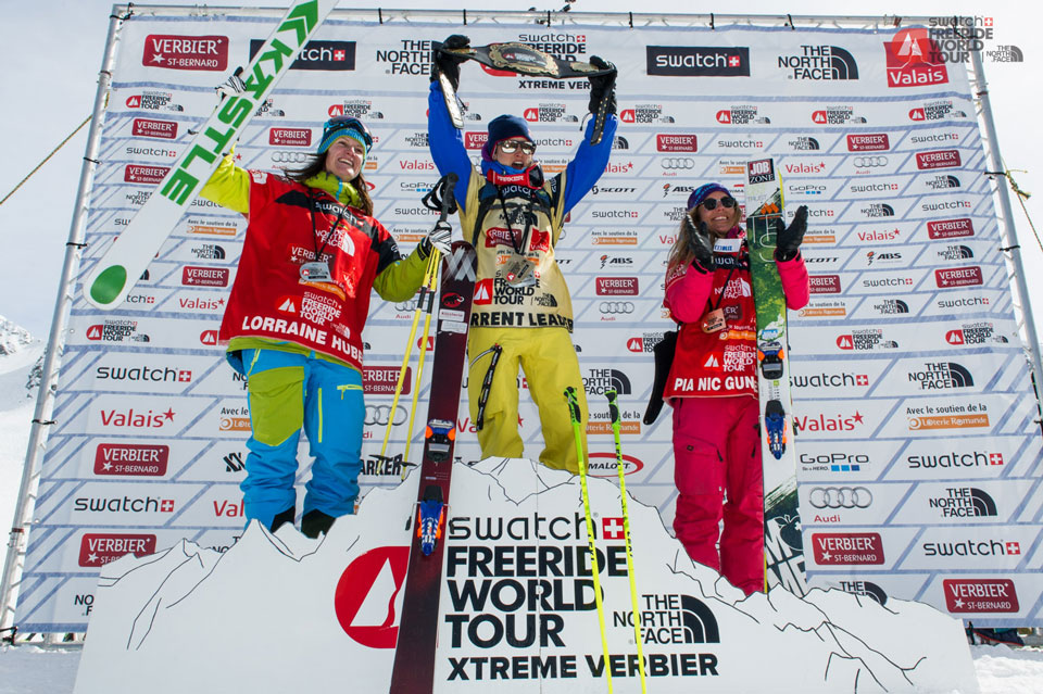 Freeride World Tour 2014 Overall Ski Women's Podium