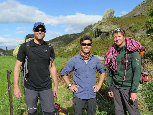 The crew: T.J., Denis and our guide Jono Gillan