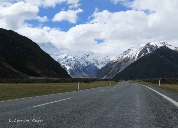 On our way to Aoraki/Mt. Cook National Park
