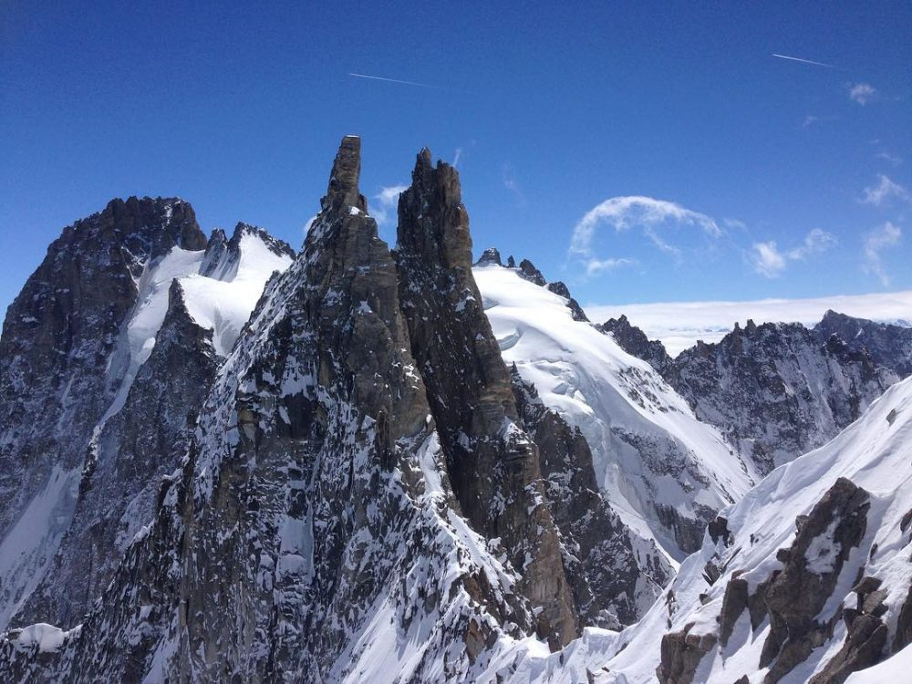 The view we had on top of coldescristaux argentiere skimountaineering