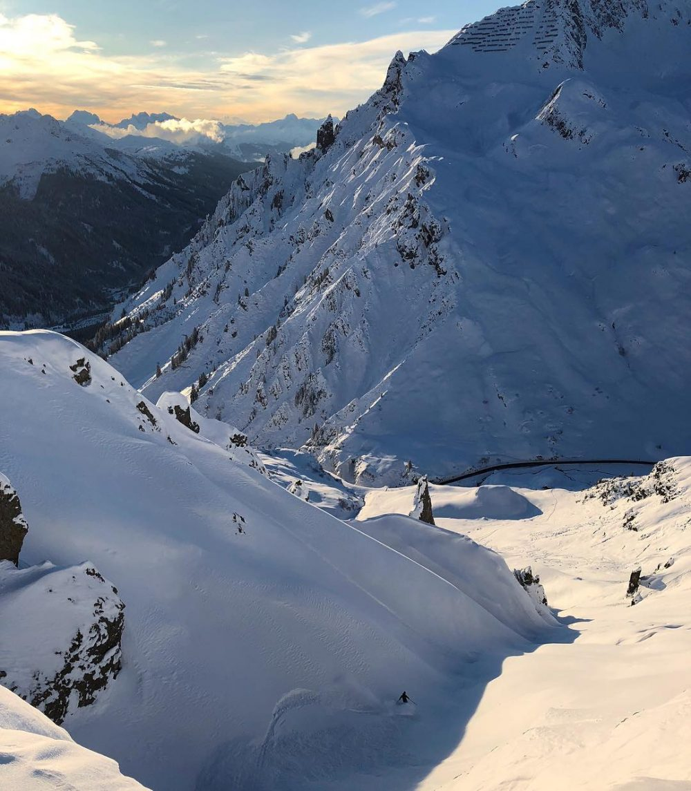 Prime skiing conditions and few people in the ski areahellip