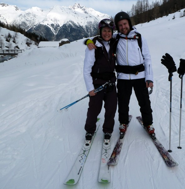 My mate Tom and I, stoked after our run in the Malfontal