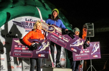 Women Ski Podium La Clusaz Radikal Mountain 2013