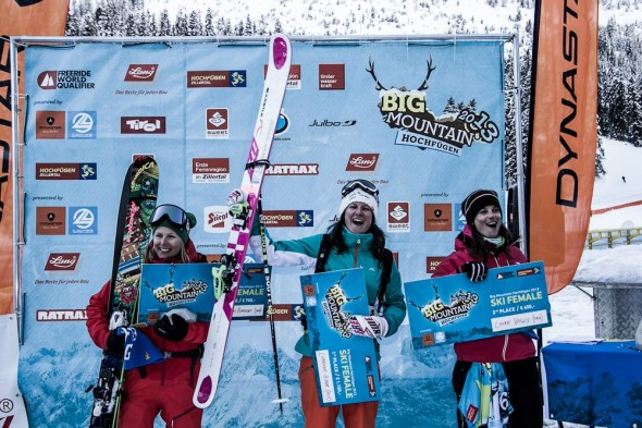 Big Mountain Hochfuegen, Podium Ski Women