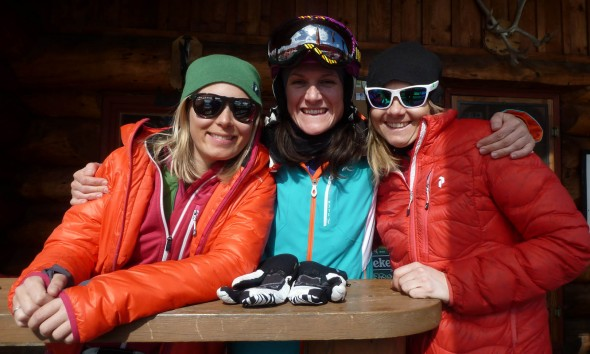Hanging with the girls at the 33 Mile House next to the heli base