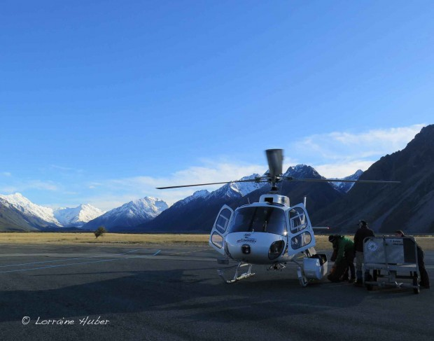 Ready to fly to Tasman Saddle Hut